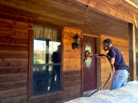 Log Home Restoration Stripping And Sealing | Best Home ...